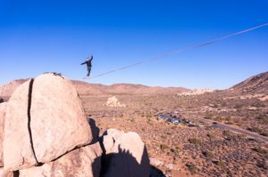 Highlining in Joshua Tree